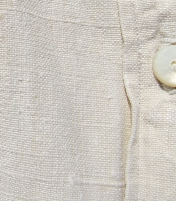 Antique French peasant Linen Smock Country Shirt c