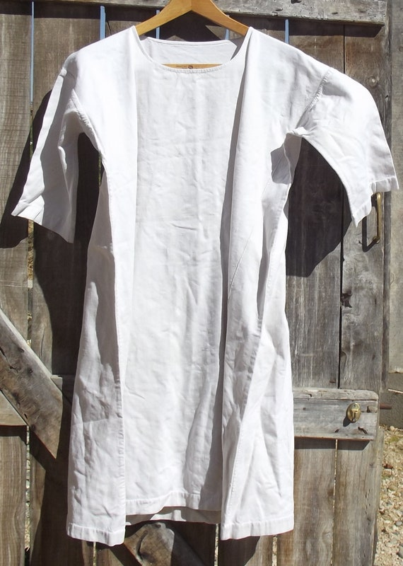 Antique French Smock Chanvre Linen Tunic Robe Dre… - image 2