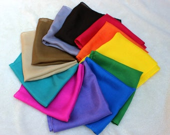 Set of 12 Playsilks - All Colors! Rainbow & Expansion Set ~ Hand Dyed ~ Waldorf Inspired!