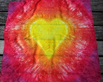 Sunshine Tie Dye Heart Playsilk ~ Hand Dyed ~ Waldorf Inspired!