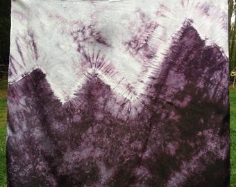 Craggy Mountain Playsilk ~ Play Mat ~ Hand Dyed ~ Waldorf Inspired~
