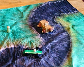 Paved Road Playsilk ~ Play Mat ~ Hand Dyed ~Waldorf Inspired