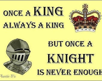 Once A King... - Magnet