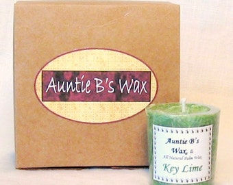 Key Lime Palm Wax Votive Candles Set of 4