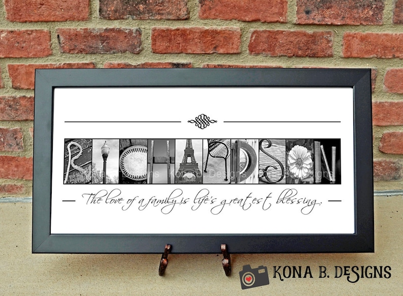 Personalized Housewarming Gift Alphabet Letter Photography Last Name Print Personalized Personalized Realtor Gift 10x20 Print Unframed