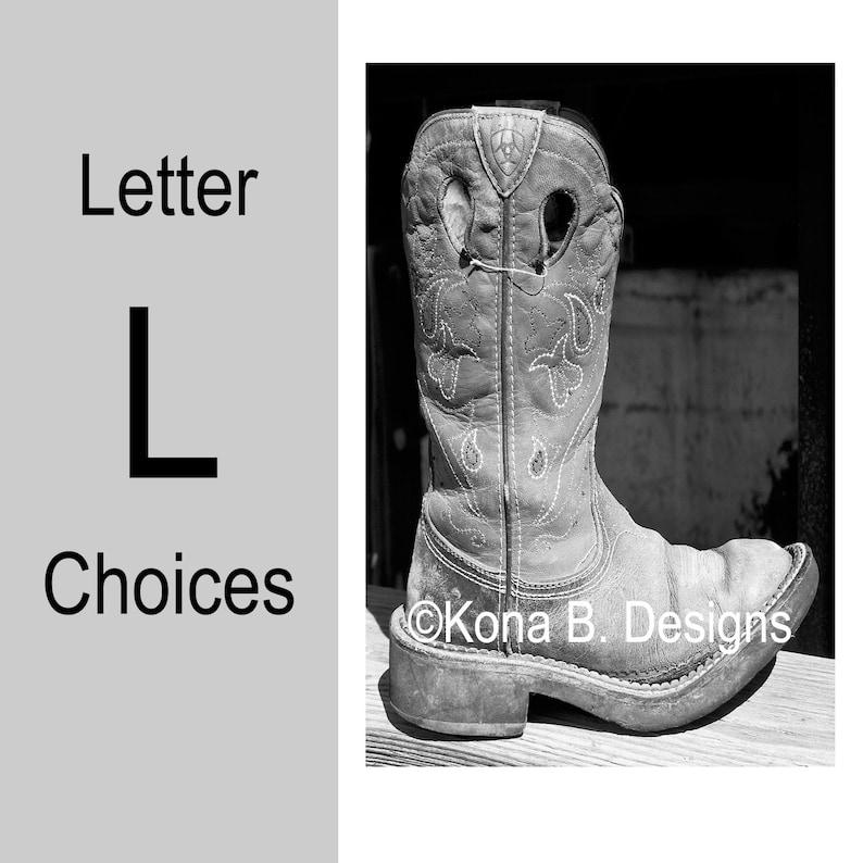 Letter L Alphabet Photography 4x6 Photo