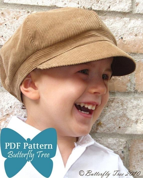 99aee267 Newsboy Hat Sewing Pattern Reversible Unisex Infant and | Etsy