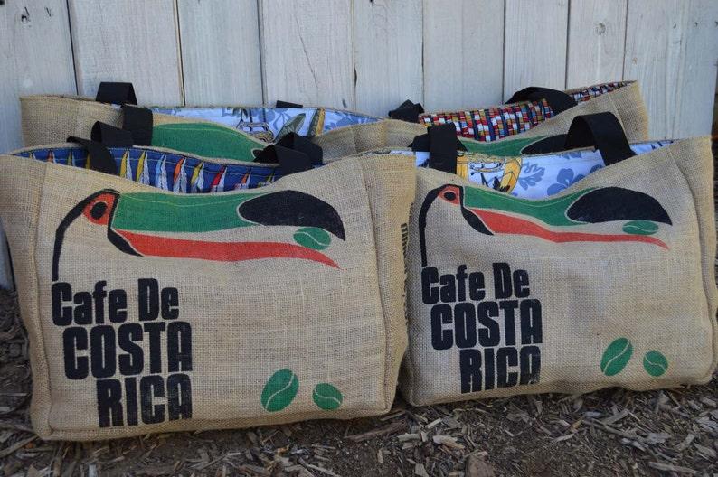 Handmade Costa Rica Toucan 5 Custom Destination Wedding Welcome Beach Tote Bags