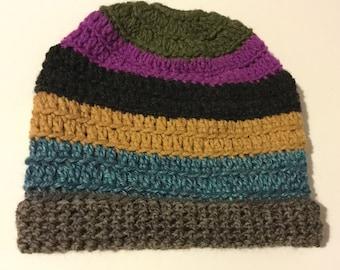 Messy Bun Beanie crochet crocheted Ponytail Hat