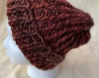 Women's Winter Hat Rust Colors Chunky