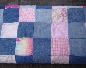 Pink and Denim Lap Quilt