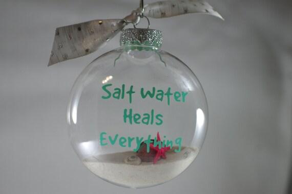 Saltwater Heals Beach Christmas Ornament Beach Decor | Etsy