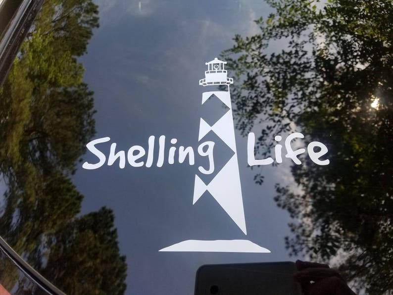 Shelling Life® Lighthouse Vinyl Decal  Car Decal  image 0