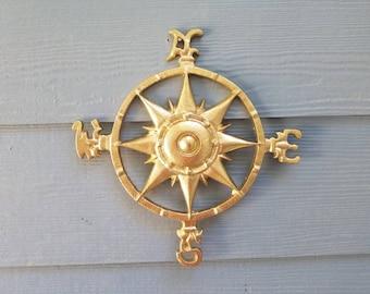 Cast Iron Compass Rose - Wall Decor - Coastal Decor