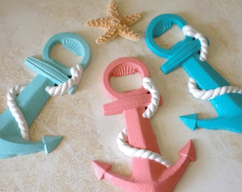 Beach Anchor Bottle Opener - PICK YOUR COLOR