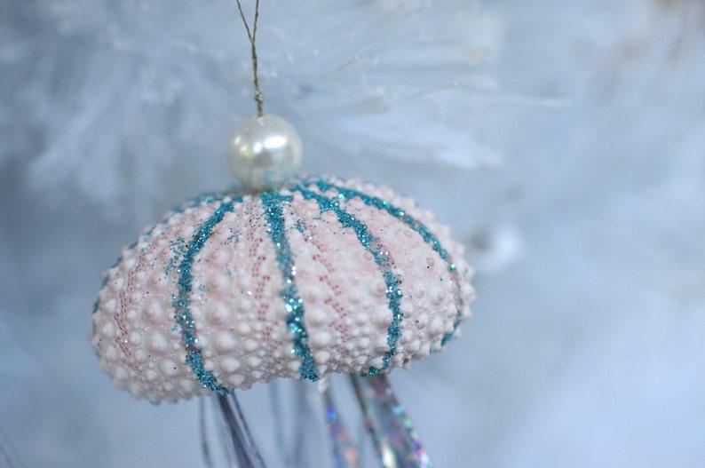 Jelly Fish Christmas Ornament  Sea Urchin Ornaments image 0