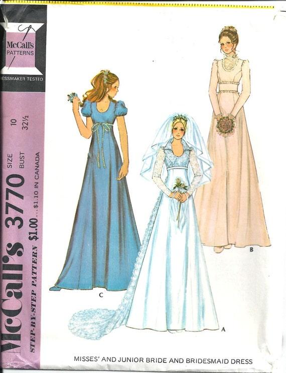 Wedding Bridal Gown Pattern Bridesmaid Dress Sewing Pattern Etsy