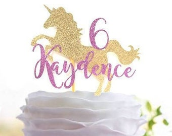 Unicorn Cake Topper Customize Decor Birthday