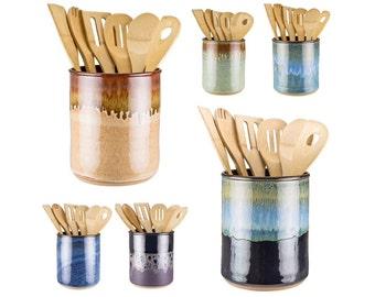 Superieur Utensil Jar In Your Choice Of 16 Glazes! Wheel Thrown Pottery Utensil Crock  / Spoon Jar / Kitchen Utensil Holder / MADE TO ORDER In 6 Weeks