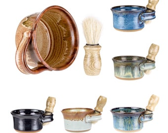 Wheel Thrown Pottery Shaving Mug / shaving cup / shave set / shave mug / shaving bowl / shaving scuttle / shaving set/ MADE TO ORDER-4 weeks