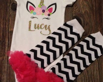 Chevron cotton and tulle leg warmers  for baby or toddler - great with