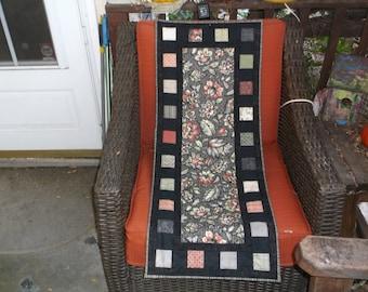 Handmade quilted table runner fall rustic runner