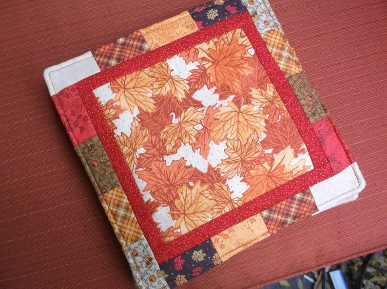 Fall leaves hotpad or pot holder or trivet