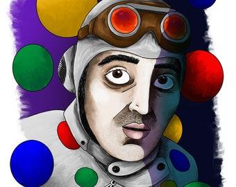 Polka Dot Man - Giclée Illustration Print