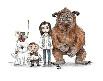 Labyrinth - The Good Guys - 8 1/2 x 11 Illustration Print