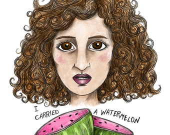 I Carried a Watermelon - Baby - Dirty Dancing - Giclée Illustration Print
