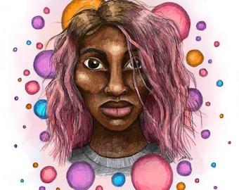 She May Destroy You - Michaela Coel - Giclée Illustration Print