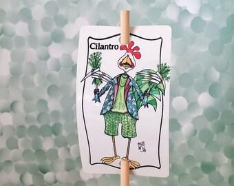 Jardin signe coriandre herbe métal sur bambou bûcher UV protégé contre la décoloration 2 x 3 signe 12 pouces jeu personnalisable