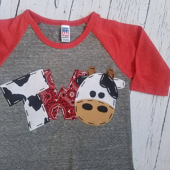 2nd Barnyard Birthday Shirt Two Cow Horse
