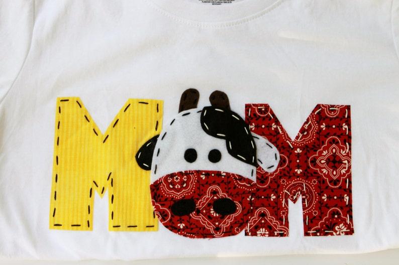 Mom Barnyard Birthday Shirt Mom Dad Two Cow 2nd T Shirt Barn Yard Farm Theme Boy White