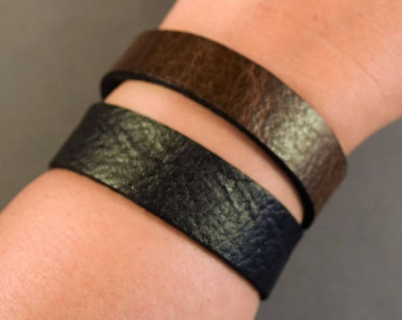 Leather Bracelet-Leather Wristband-Leather Watchband-Cuff-Friendship Gifts-Leather Cuff-Gifts Women-Women Leather Cuff-Friendship Bracelet