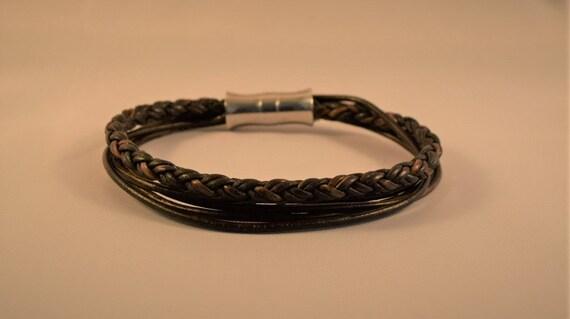 Mens braided bracelet-Braided bracelet- Bracelet for women- Brown leather bracelet- Vintage leather bracelet-Mens leather bracelet-Gifts