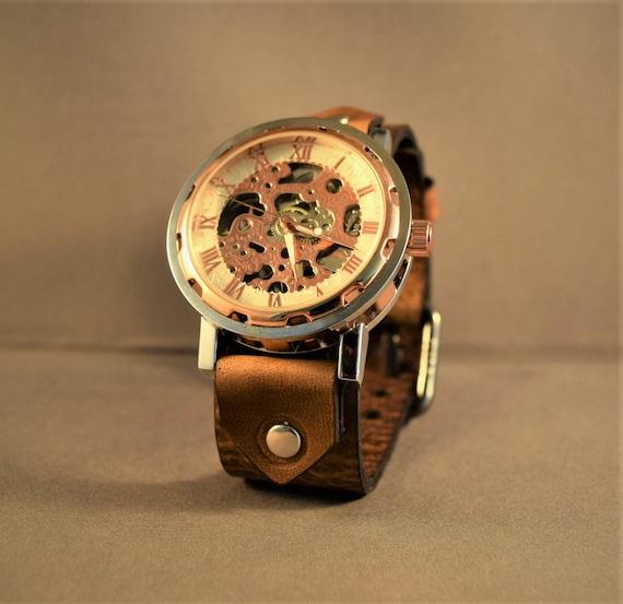 Women watch-Skeleton watch-Steampunk women watch-Steampunk men watch-Vintage watch- Ladies watch-Women wrist watch-Men wrist watch-Gifts
