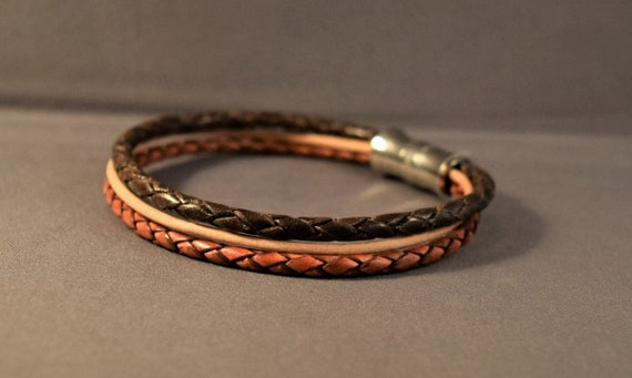 Braided Leather Bracelet-Men Bracelet-Women Bracelet-Brown Bracelet-Wrist Men Bracelet-Friendship Bracelet-Birthday Gifts-Friendship Gifts