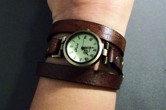 Birthday Gift For Her-Leather Jewelry-Gift For Friend-Watch For Women-Anniversary Gifts-Girlfriend Gifts-Ladies Watch-Gift Women-Brown Watch