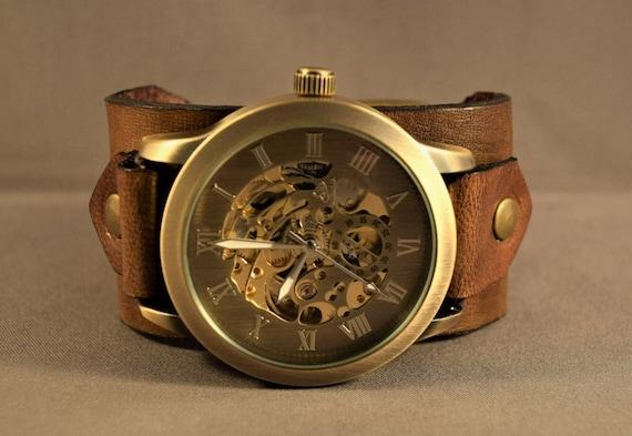 Steampunk men watch-Women watch-Mens watches vintage-Mechanical Watch-Skeleton Watch-Steampunk women watch-Ladies vintage watch-Gifts