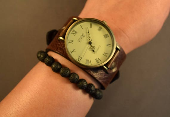 Leather Watch-Watch-Cuff Watch-Men Watch-Women Watch-Gifts-Husband Christmas Gifts-Gift for Men-Gift for Her-Wrist Watch-Watches