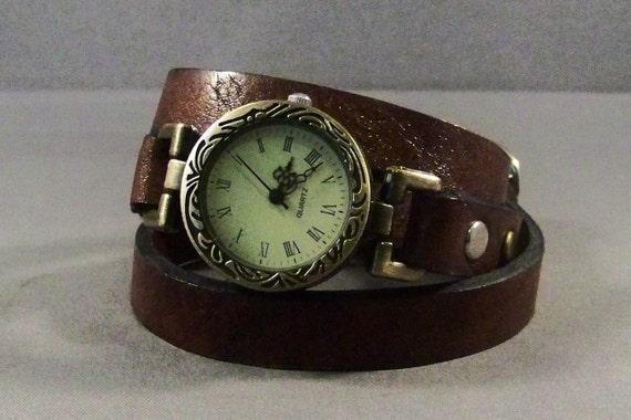 Wrap Watch-Brown Leather Watch-Bracelet Watch-Womens Watch-Womens Wrist Watch-Ladies Watch-Gifts-Bracelet Watch-Gifts For Her-Birthday Gifts