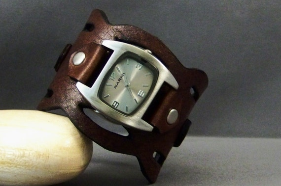 Watches for women-Bracelet Watch-Leather cuff watch-Women wrist watch-Gifts-Mens Leather Watch-Gifts-Unique Women Watches-Mens Watch