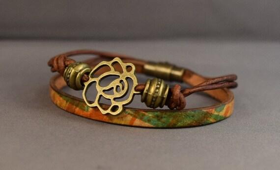 Leather Bracelet-Women Bracelet-Friendship Bracelet-Gifts For Her-Bracelet Charm-Bracelet For Women-Brown Leather Bracelet-Friendship Gifts