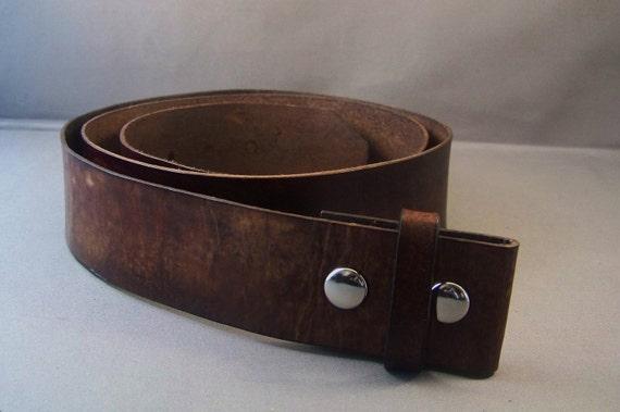 Vintage Brown leather Belt-Belt for Buckle-Gifts-Mens Leather Belt-Womens Leather Belt-Leather Strap Belt-Brown Snap Belt-Brown Leather Belt