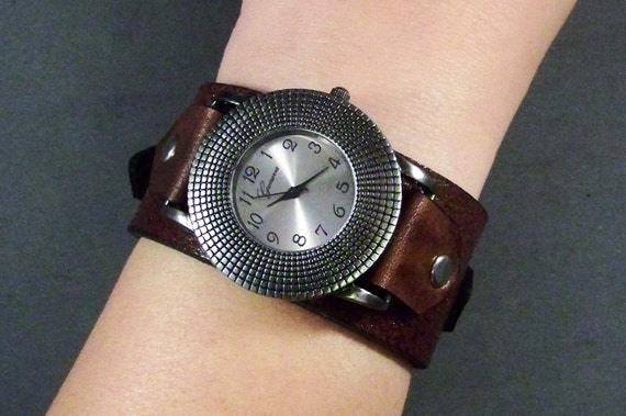 Leather Watch-Mens Watch-Womens Watch-Leather Cuff Watch-Leather Watchband-Bracelet Watch-Friendship Gift-Watch for Women-Watch for Men