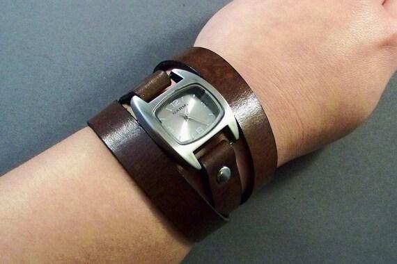 Leather Watch- Wrap Watch-Bracelet Watch-Birthday Gifts-Gifts-Women Watch-Leather Wrist Watch-Men Watch-Brown Leather Watch-Leather Jewelry