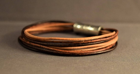 Womens leather bracelet, Mens leather bracelet, Brown leather bracelet, Gifts for her,Gifts for him, Birthday gift, Leather jewelry