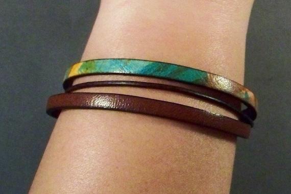 Leather Bracelet-Women's Leather Bracelet-Friendship Bracelet-Brown Bracelet-Friendship Gift-Wrist Bracelet-Gift-Men's Bracelet-Men Jewelry