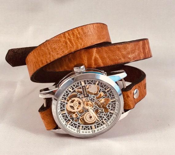 Steampunk wrist watch-Mens Watch-Steampunk Watch-Wrap Watch-Watches for womens-Ladies watch-Steampunk women watch-Watches for mens